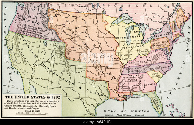 Spanish Colonial Map Stock Photos Spanish Colonial Map Stock - Map of us after revolutionary war