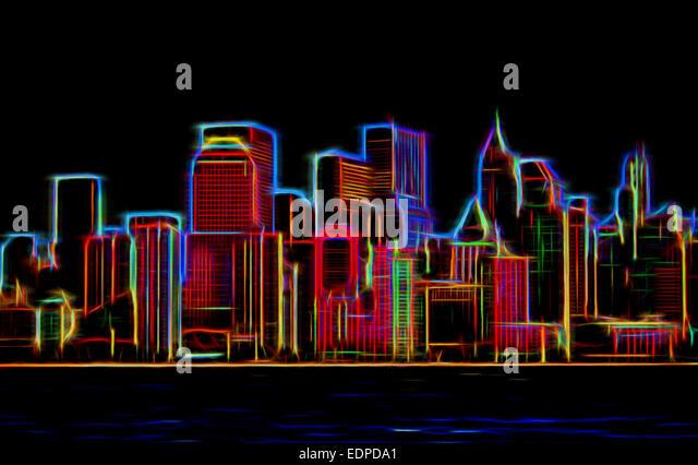 skyline sign neon - photo #10