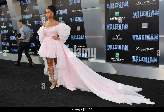 Los Angeles, CA, USA. 17th July, 2017. Rihanna at arrivals for VALERIAN AND THE CITY OF A THOUSAND PLANETS Premiere, - Stock Image