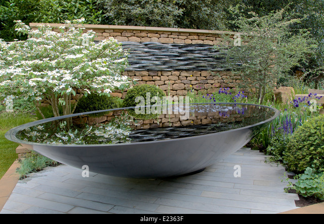 Tour De Yorkshire Artisan Garden At RHS Chelsea Flower Show 2014   Stock  Image