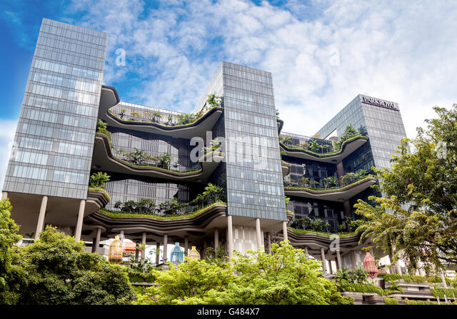 Singapore, Singapore - December 11, 2014: PARKROYAL Hotel in the financial  hub of