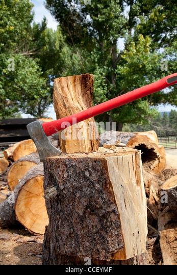 chopping wood axe stock photos chopping wood axe stock images