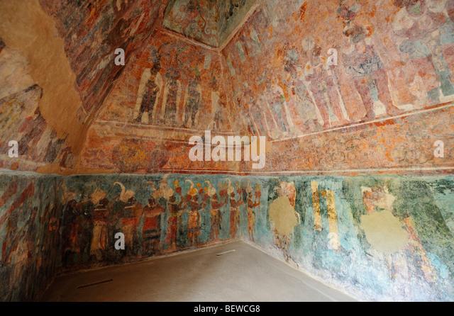 Mural paintings stock photos mural paintings stock for Bonampak mural painting