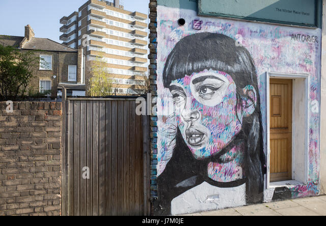 Graffiti in East London UK - Stock Image
