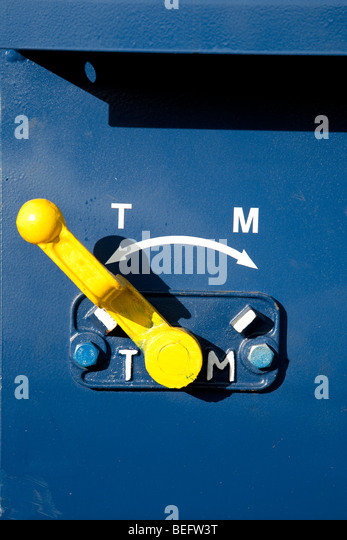Train Control Lever : Cut off valve stock photos images