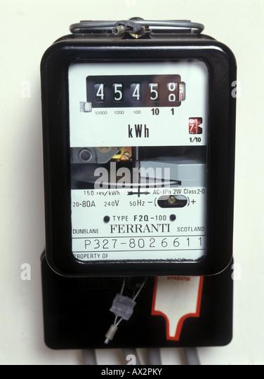 Kilowatt Hour Meter : Kilowatt stock photos images alamy