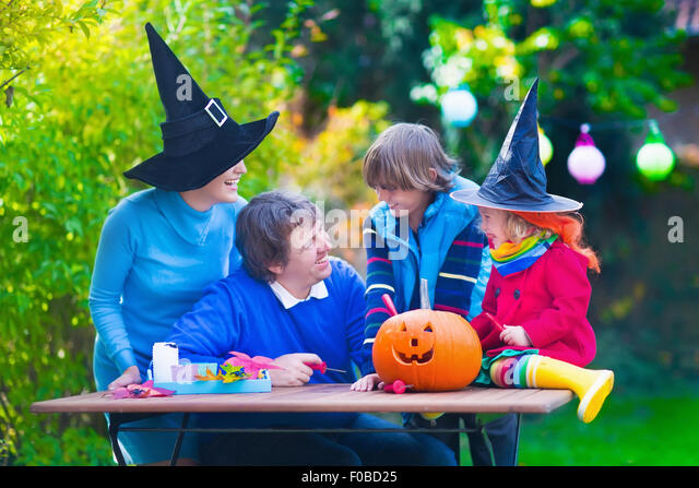 Mother Daughter Trick Treating Costume Stock Photos ...