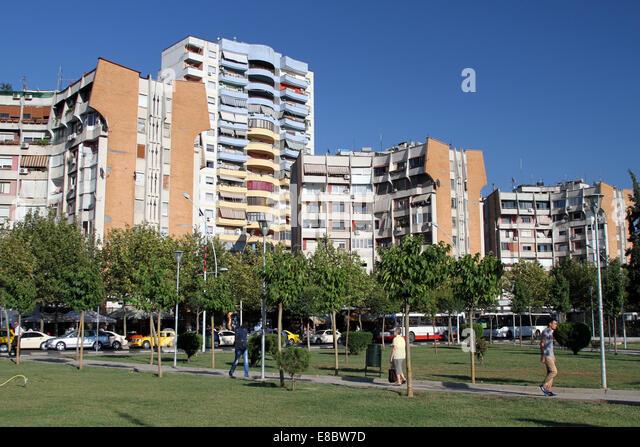Tirana buildings stock photos tirana buildings stock for Apartment overlooking central park