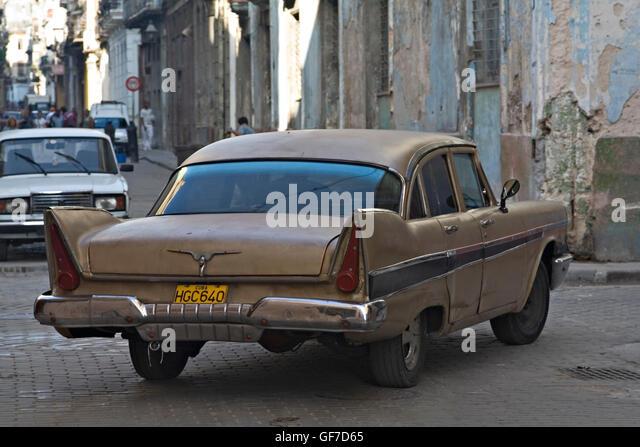 cuban antique cars stock image