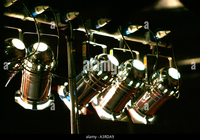 lighting technician. stage lighting stock image technician