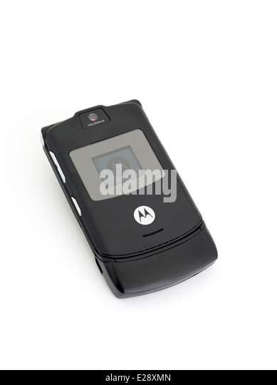 motorola flip phone 2004. motorola razr v3 mobile cellular phone released 2004 - stock image flip o