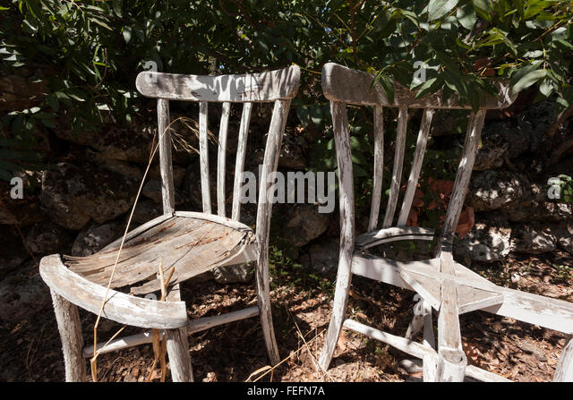 Old Chair In Outdoor Setting