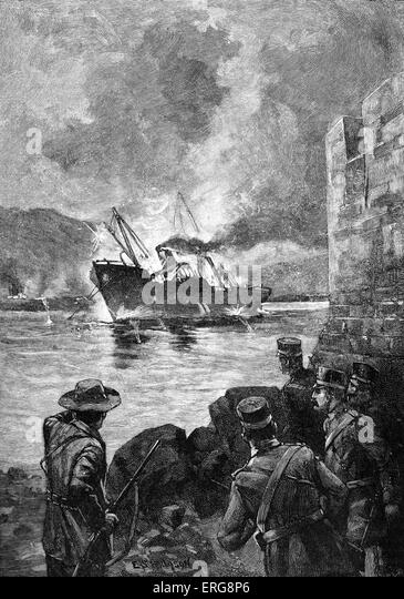 the spanish american war of 1898 On april 25, 1898 the united states declared war on spain following the sinking of the battleship maine in havana harbor on february 15, 1898 the war ended with the signing of the treaty of paris on december 10, 1898 as a result spain lost its control over the remains of its overseas empire -- cuba, puerto rico, the.