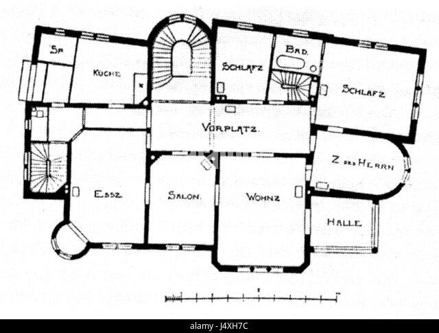 Villa Hohenzollernstr 1 Stuttgart Architekten Eisenlohr Und Weigle Grundriss Obergeschoss Von 1895