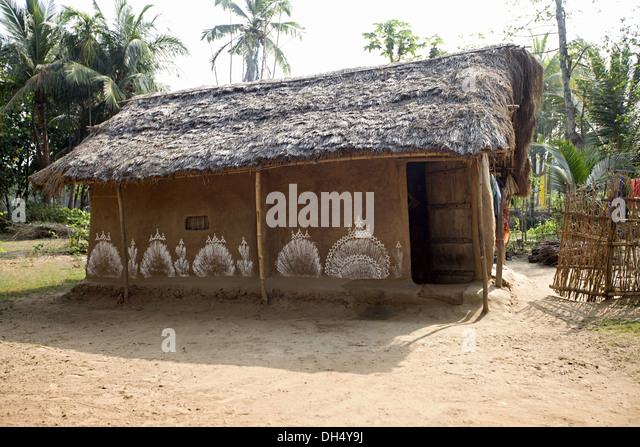 Shack thatched roof stock photos shack thatched roof for Tribal house