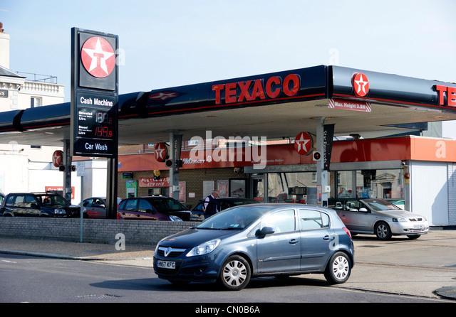 Texaco logo stock photos texaco logo stock images alamy for Garage energy automobiles