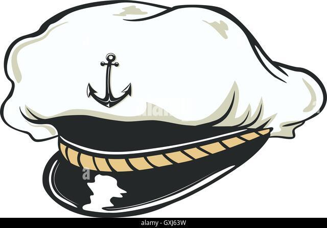 Navy Hat Clipart Sailor Cap Stock Photo...