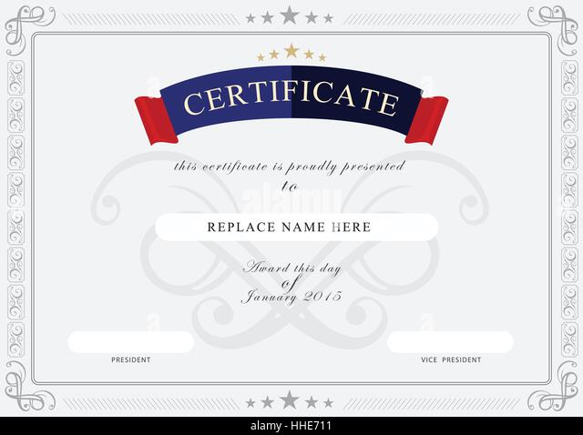 Certificate border stock photos certificate border stock images certificate border certificate template vector illustration stock image yadclub Image collections