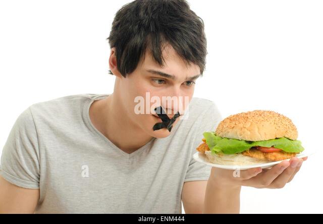 how to eat a big hamburger