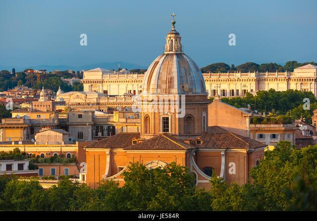 San Giovanni dei Fiorentini church in Rome, Italy - Stock Image