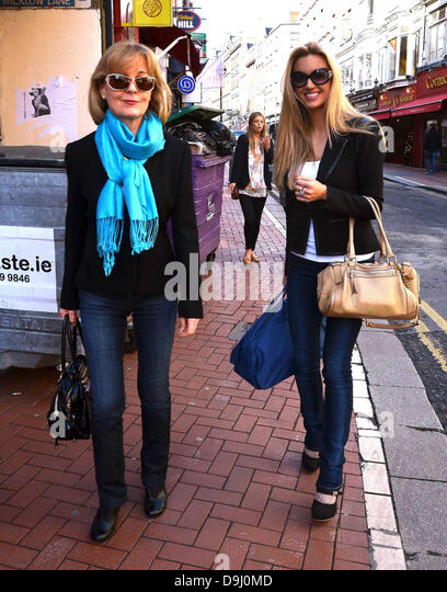 Former miss world rosanna davison stock photos former miss world former miss world rosanna davison and her mother diane davison out and about in dublin dublin thecheapjerseys Images