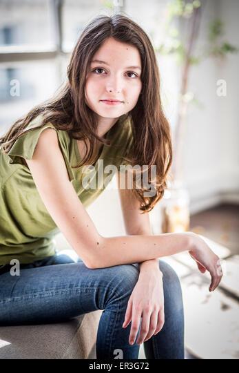 Portrait of a teenage girl. - Stock Image