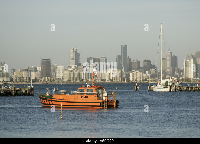 Melbourne Australia Boat Port Stock Photos Melbourne