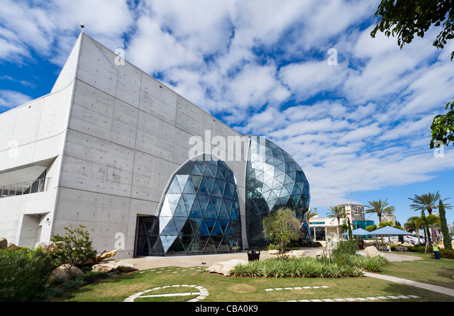 The New Salvador Dali Museum Taken From The Museum Garden, St Petersburg,  Florida,