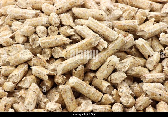 Biomass wood pellets stock photos