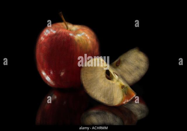 Apple Still Life Painting Stock Photos & Apple Still Life Painting ...