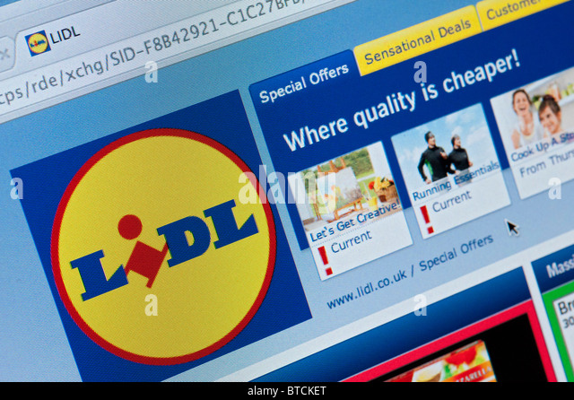 Detail Of Screenshot From Website Of Lidl Home Shopping And Delivery Service Stock Image