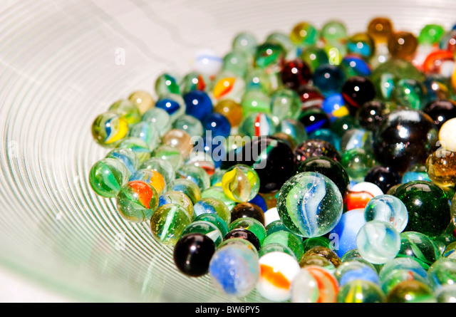 Bright Colored Marbles : Marble toy stock photos images alamy