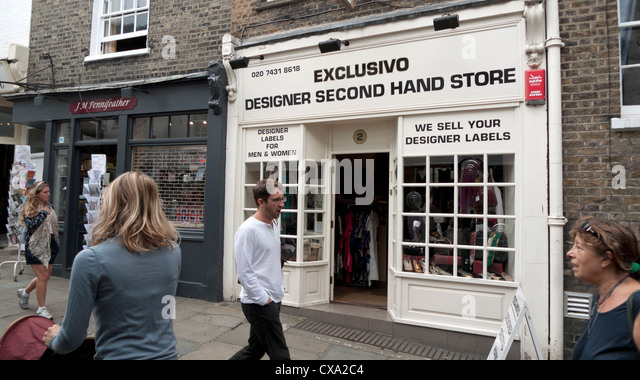 Designer shops london stock photos designer shops london for Designer mobel second hand