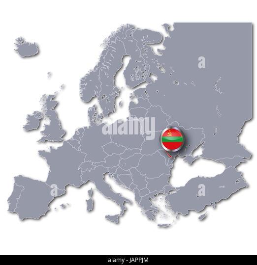 Flag Of Transnistria Stock Photos Flag Of Transnistria Stock - Transnistria map