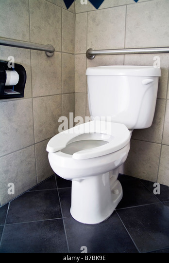 Handicap Toilet Stock Photos  Handicap Toilet Stock Images Alamy - Toilet seat with no lid