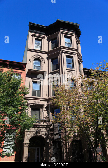 Harlem brownstones stock photos harlem brownstones stock for New york city brownstone for sale