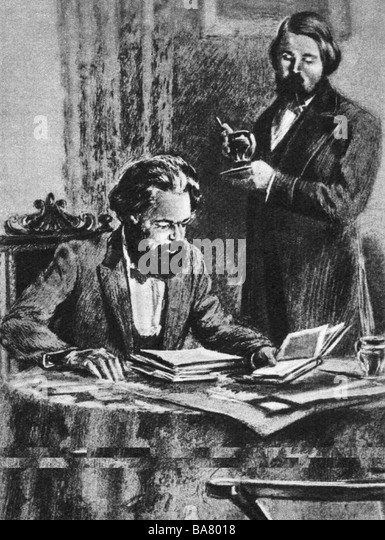 Drawing By Friedrich Engels Stock Photos & Drawing By ...