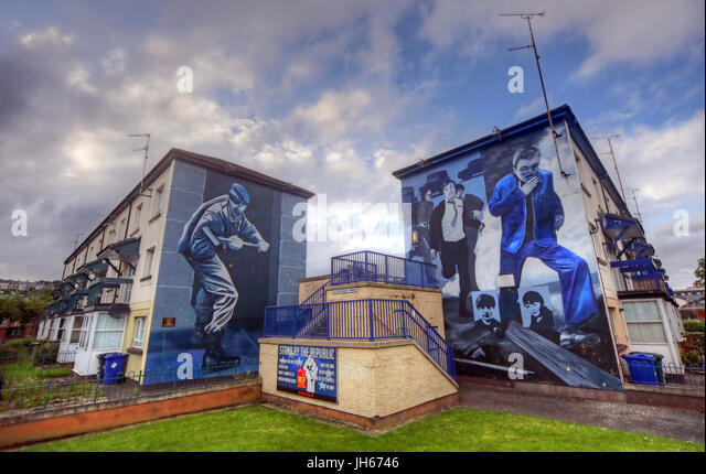 Bogside Mural, Londonderry city Northern Ireland - Stock Image