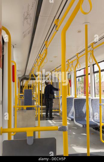manchester metrolink tram inside stock photos manchester metrolink tram inside stock images. Black Bedroom Furniture Sets. Home Design Ideas