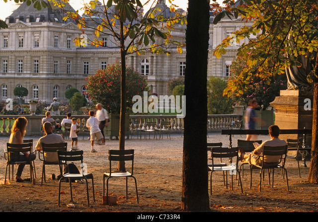 6e stock photos 6e stock images alamy for Cafe jardin du luxembourg