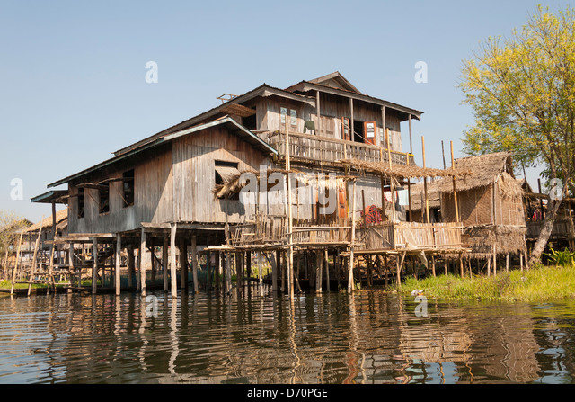 Timber clad homes stock photos timber clad homes stock for Stilt homes for sale