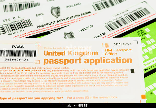 Passport Application Form Stock Photos  Passport Application Form