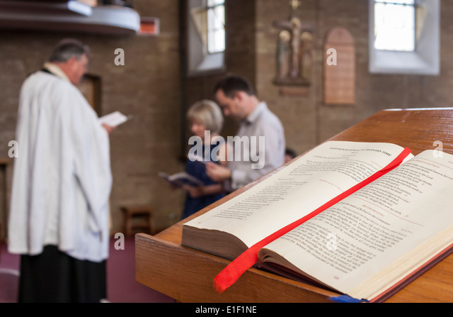 A Couple Renew Their Wedding Vows In Roman Catholic Church England GB