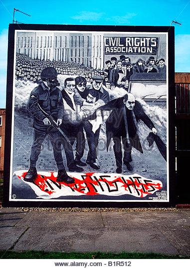 Bloody sunday mural stock photos bloody sunday mural for Bloody wall mural