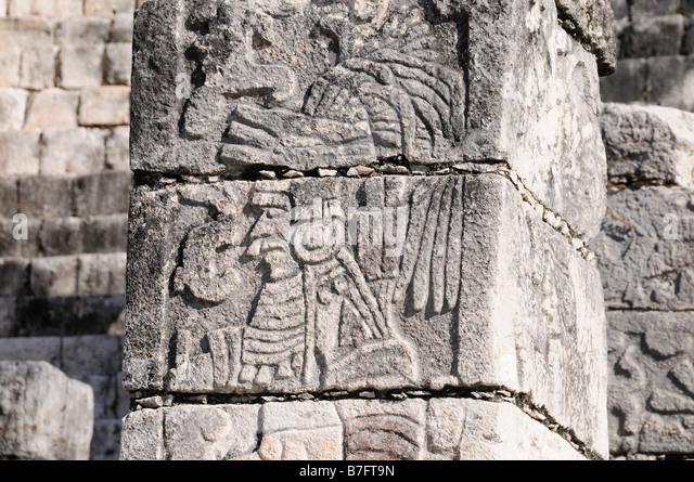 Mayan warrior stock photos images