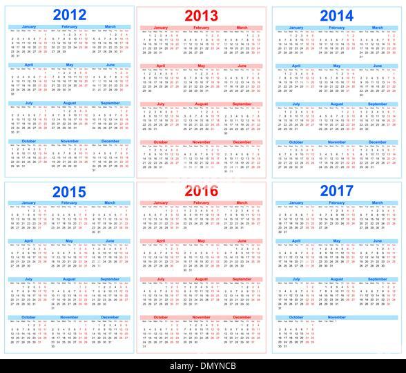 2013 To 2017 Calendar | Calendar 2017