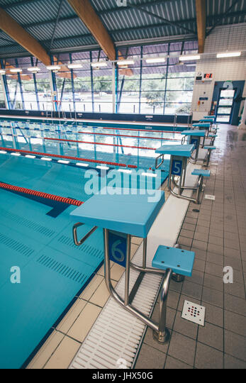 empty olympic swimming pool stock image