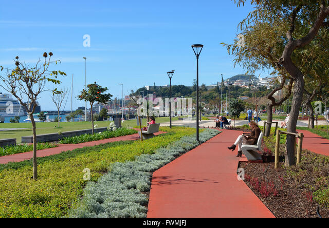 Harbour Promenade In Funchal Stock Photos & Harbour ...