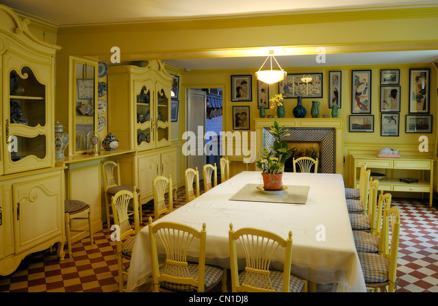 France, Eure, Giverny, Claude Monet U0027s House, The Dining Room And