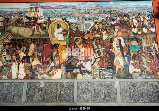 Palacio nacional mexico city stock photos palacio for Diego rivera mural palacio nacional